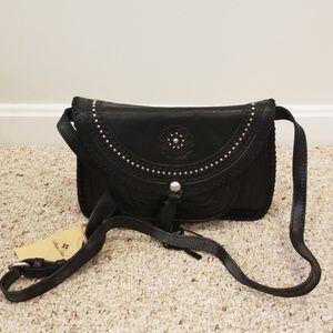 NWT! Patricia Nash Black Leather Crossbody